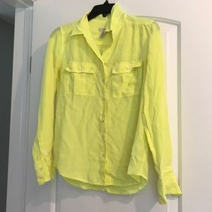J. Crew yellow blouse